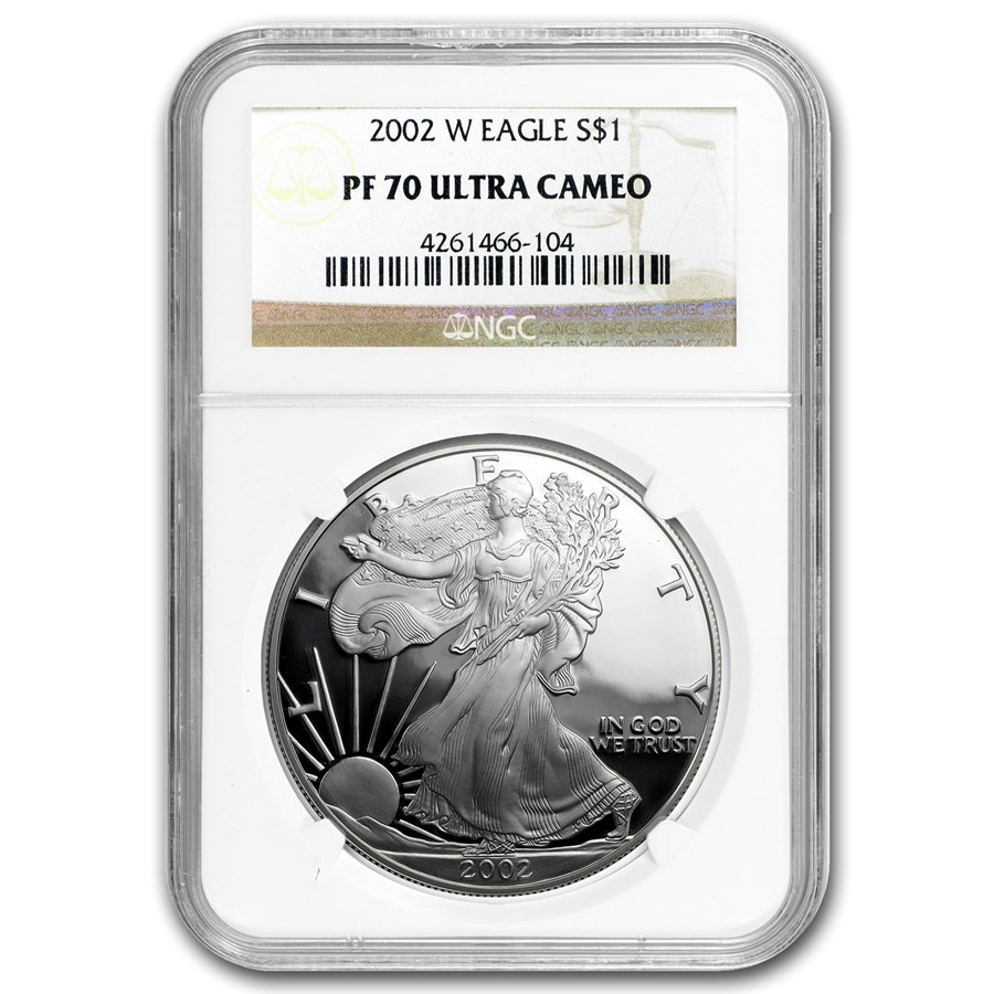 2002-W Proof American Silver Eagle PF-70 NGC