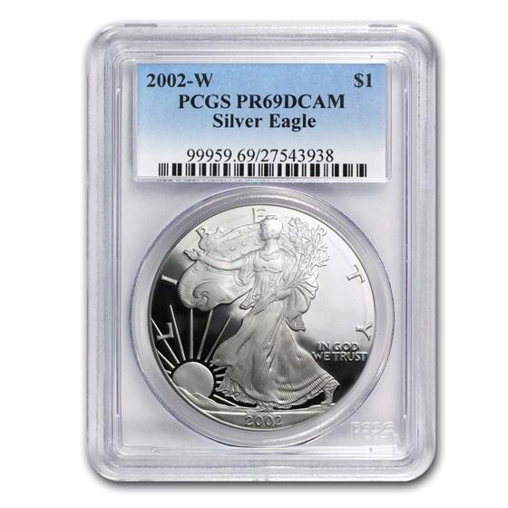 2002-W Proof American Silver Eagle PR-69 PCGS