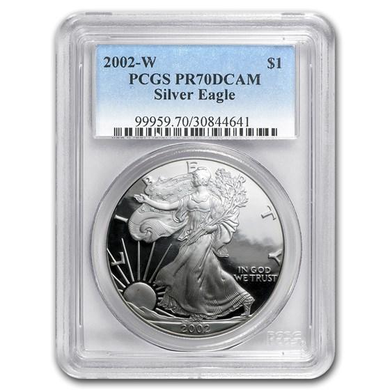 2002-W Proof American Silver Eagle PR-70 PCGS