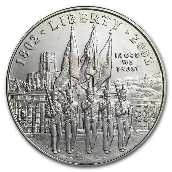 2002-W West Point Bicentennial $1 Silver Commem BU (Capsule Only)