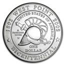 2002-W West Point Bicentennial $1 Silver Commem BU (w/Box & COA)