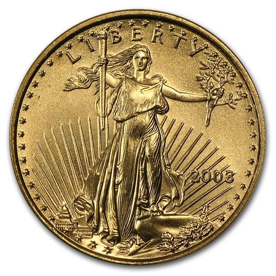 2003 1/10 oz American Gold Eagle BU