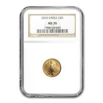 2003 1/10 oz American Gold Eagle MS-70 NGC