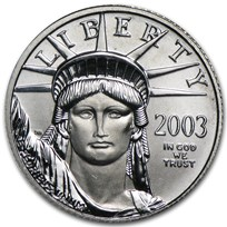2003 1/10 oz American Platinum Eagle BU