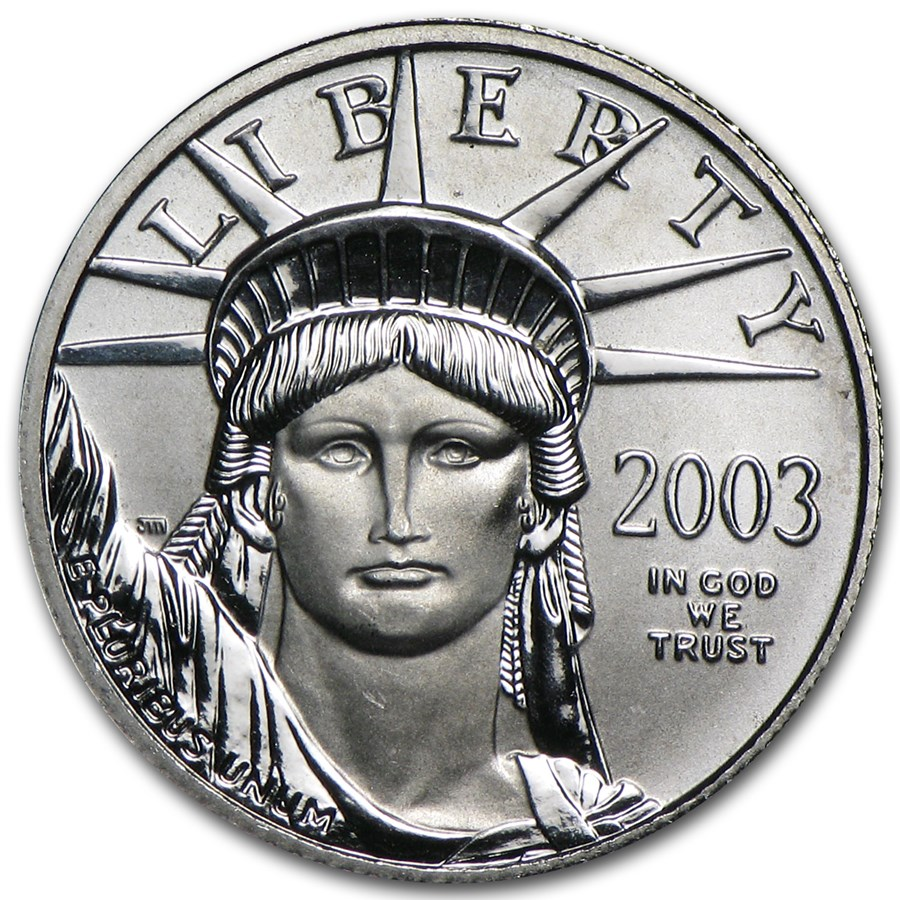 2003 1/10 oz American Platinum Eagle BU