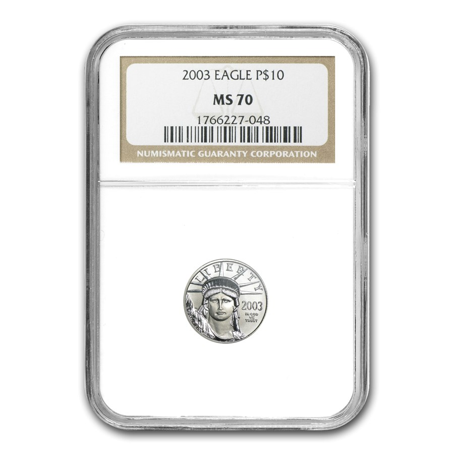 2003 1/10 oz Platinum American Eagle MS-70 NGC