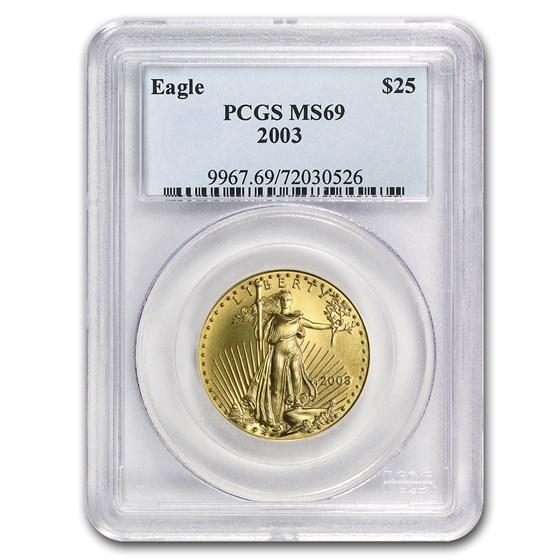 2003 1/2 oz American Gold Eagle MS-69 PCGS