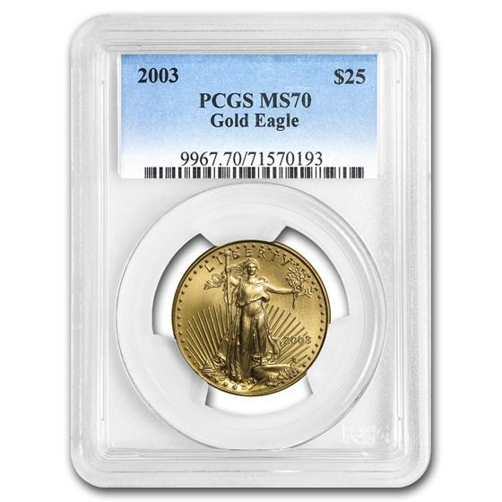 2003 1/2 oz American Gold Eagle MS-70 PCGS