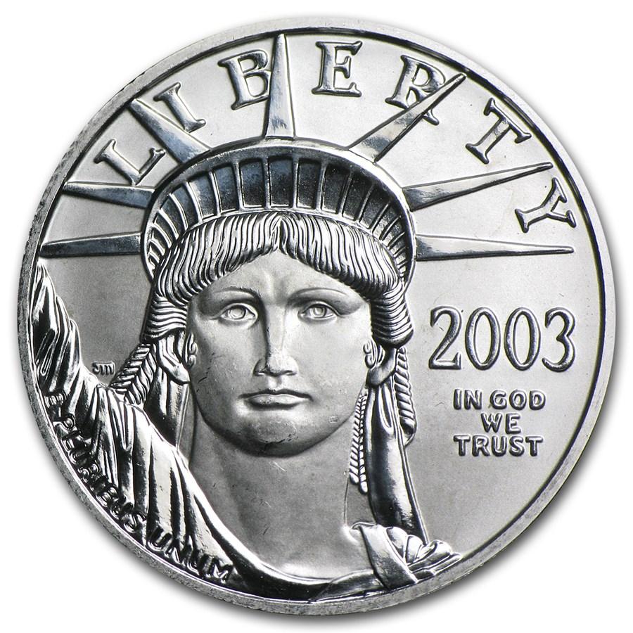2003 1/2 oz American Platinum Eagle BU