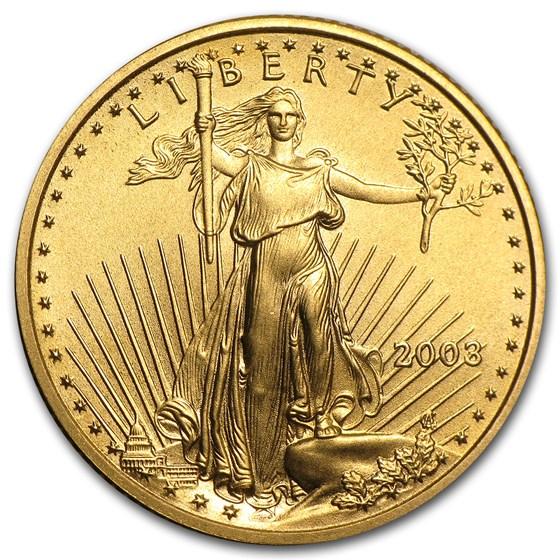 2003 1/4 oz American Gold Eagle BU