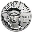 2003 1/4 oz American Platinum Eagle BU
