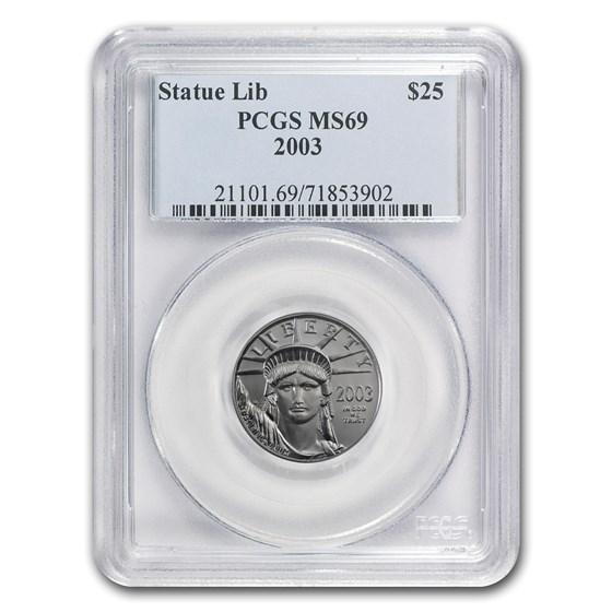 2003 1/4 oz American Platinum Eagle MS-69 PCGS
