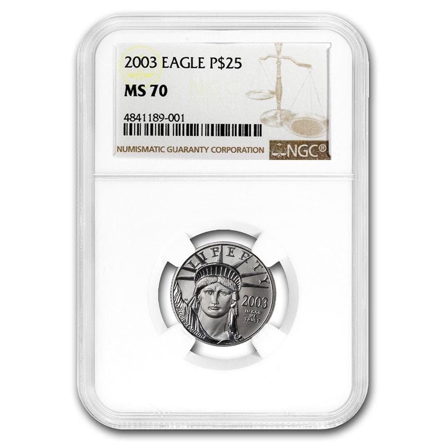 2003 1/4 oz American Platinum Eagle MS-70 NGC