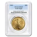 2003 1 oz American Gold Eagle MS-69 PCGS