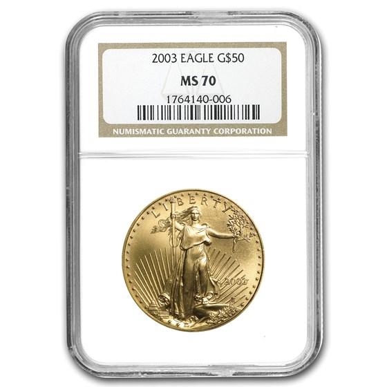 2003 1 oz American Gold Eagle MS-70 NGC