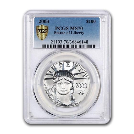 2003 1 oz American Platinum Eagle MS-70 PCGS