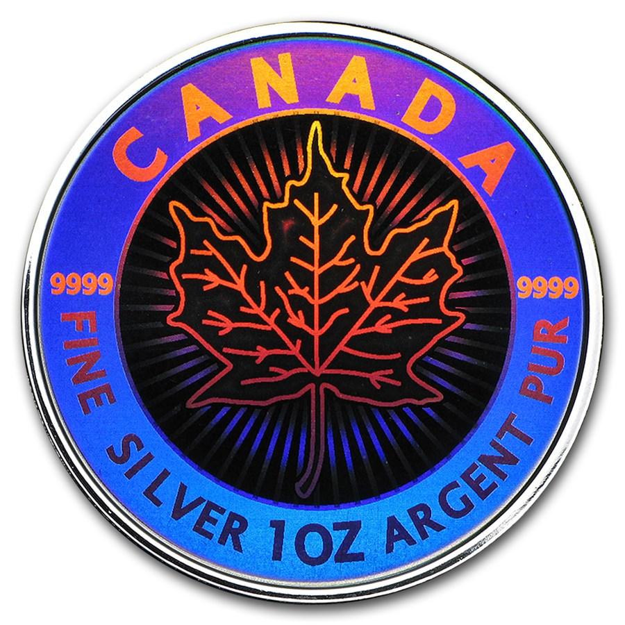 2003 1 oz Silver Canadian Maple Leaf (Hologram)