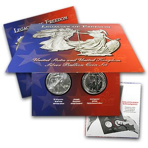 2003 2-Coin Legacies of Freedom Silver Coin Set