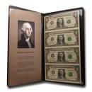 2003-A (F-Atlanta) $1.00 FRN CU (4 Note Uncut Sheet, WRME Holder)