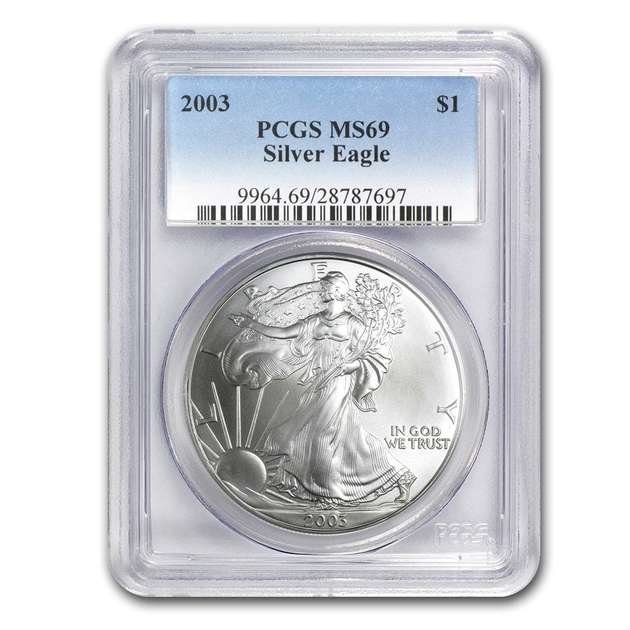 2003 American Silver Eagle MS-69 PCGS