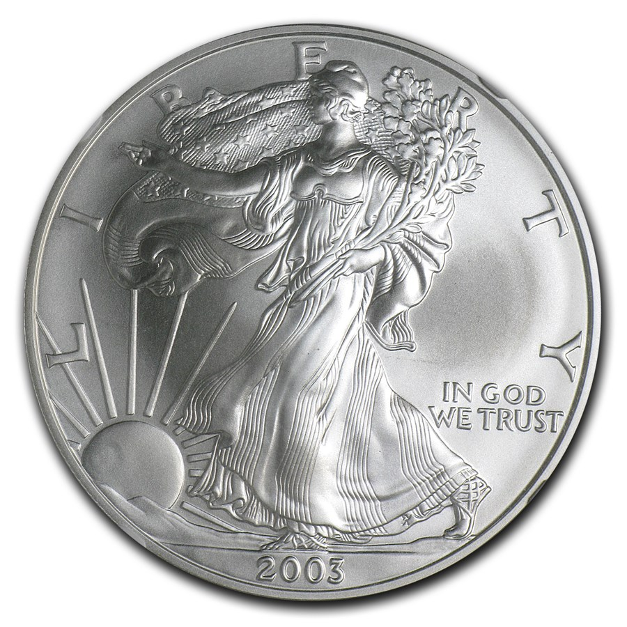 2003 American Silver Eagle MS-70 NGC