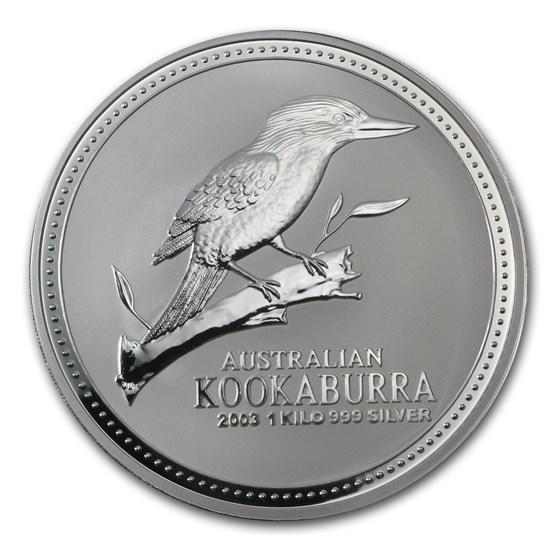 2003 Australia 1 kilo Silver Kookaburra BU