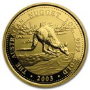 2003 Australia 1 oz Gold Nugget BU