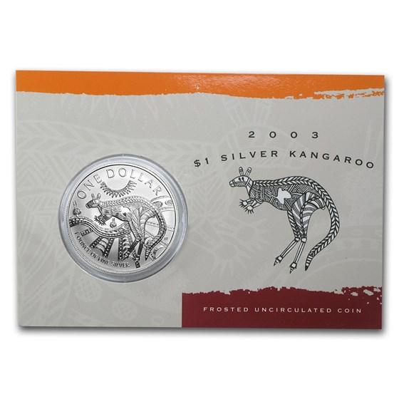 2003 Australia 1 oz Silver Kangaroo (In Display Card)
