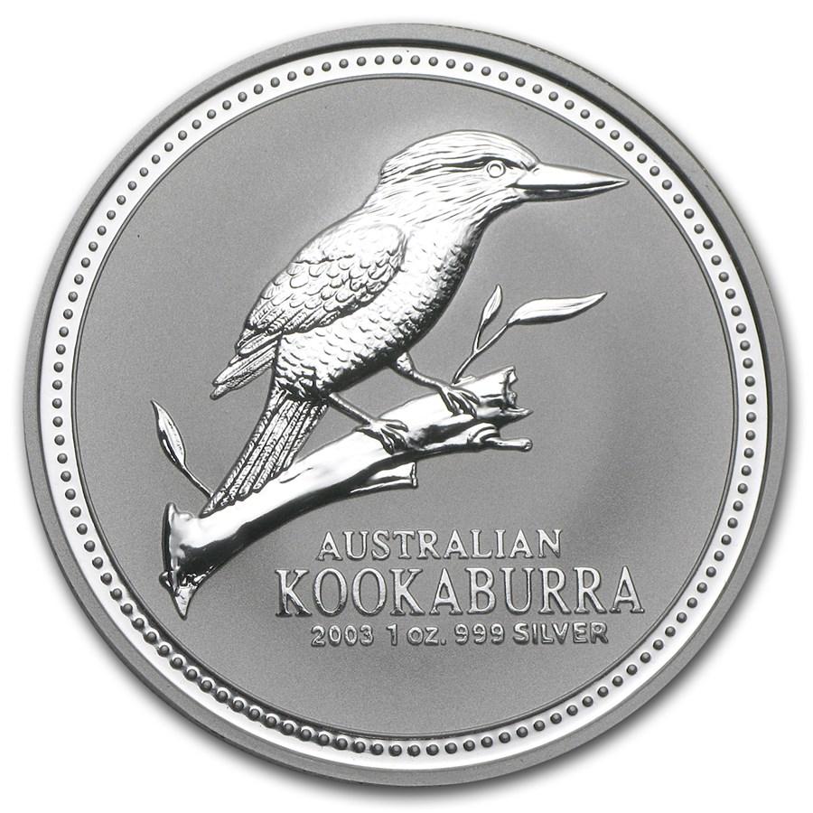 2003 Australia 1 oz Silver Kookaburra BU