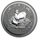 2003 Australia 10 oz Silver Year of the Goat BU