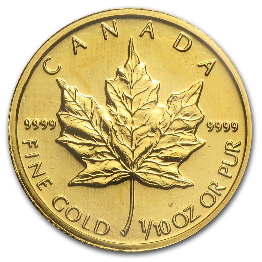 2003 Canada 1/10 oz Gold Maple Leaf BU