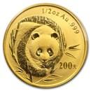 2003 China 1/2 oz Gold Panda BU (Sealed)