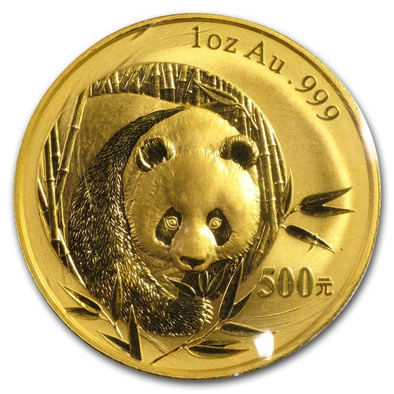 2003 China 1 oz Gold Panda BU (Sealed)