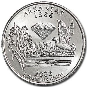 2003-D Arkansas State Quarter BU