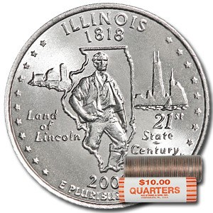 2003-D Illinois Statehood Quarter 40-Coin Roll BU