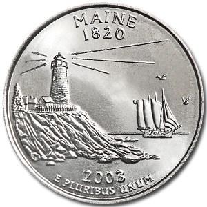 2003-D Maine State Quarter BU