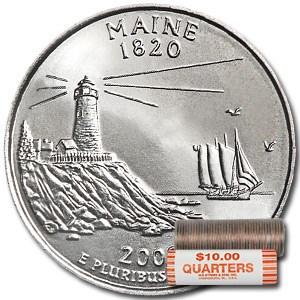 2003-D Maine Statehood Quarter 40-Coin Roll BU