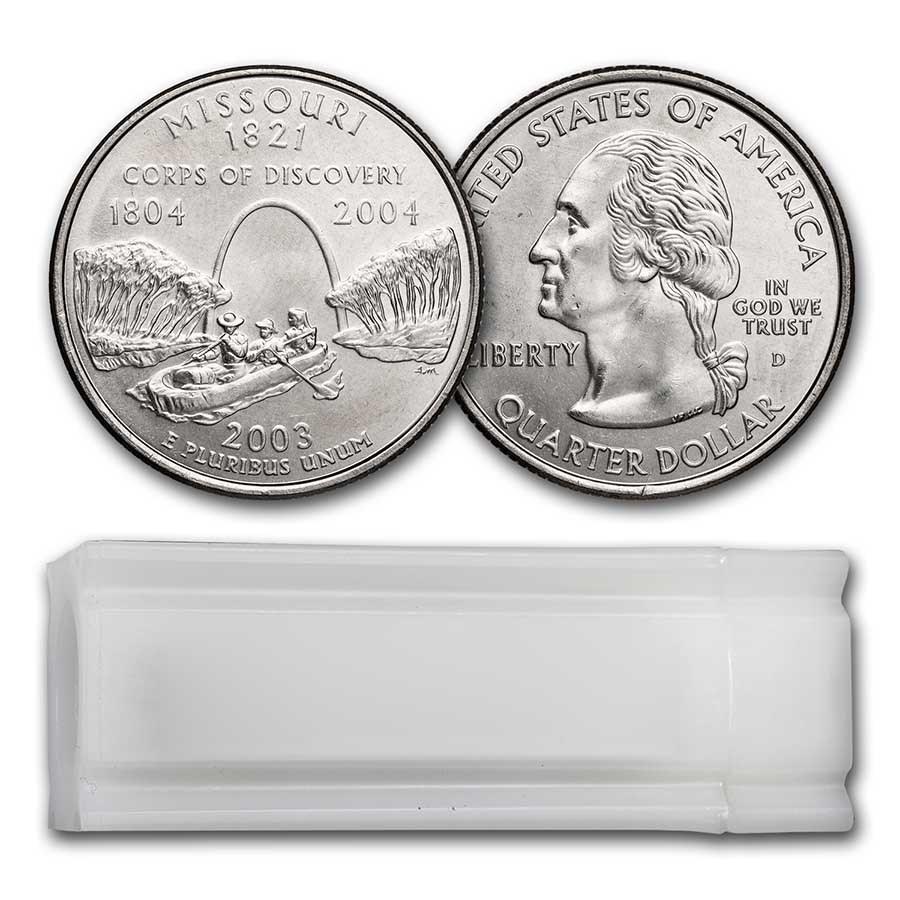 2003-D Missouri Statehood Quarter 40-Coin Roll BU