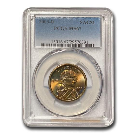 2003-D Sacagawea Dollar MS-67 PCGS
