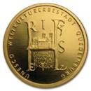 2003 Germany 1/2 oz Gold 100 Euro Quedlinburg Abbey BU