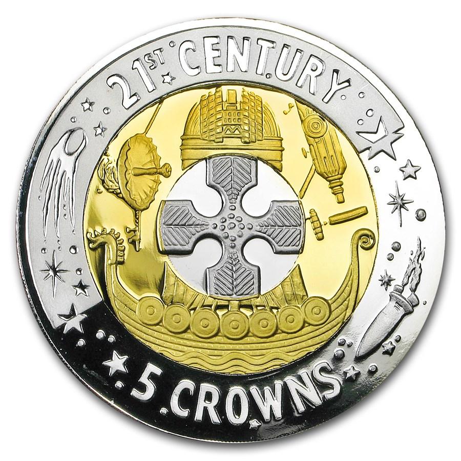 2003 Gibraltar Proof Tri-Metal 5 Crown (w/Box & COA)