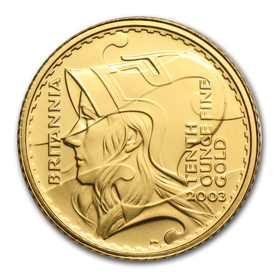 2003 Great Britain 1/10 oz Gold Britannia BU