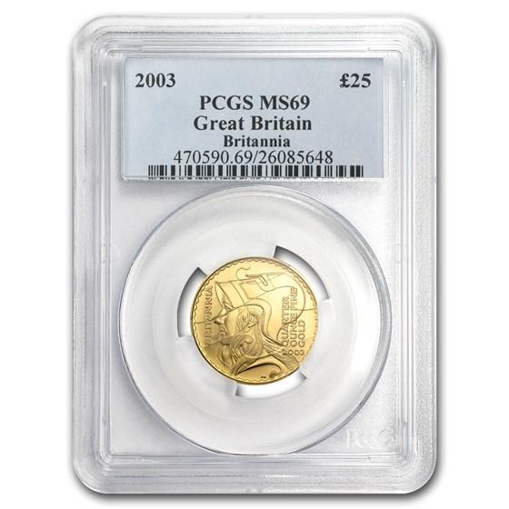 2003 Great Britain 1/4 oz Gold Britannia MS-69 PCGS
