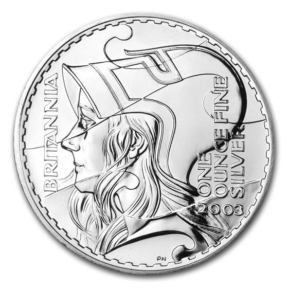 2003 Great Britain 1 oz Silver Britannia BU