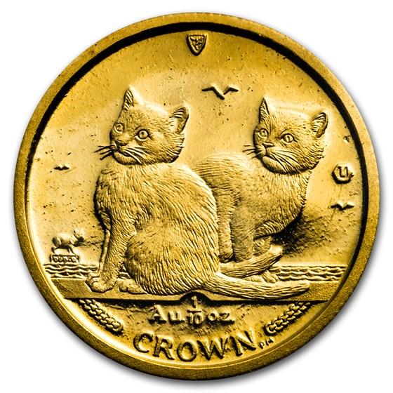 2003 Isle of Man 1/10 oz Gold Balinese Kittens Cat BU