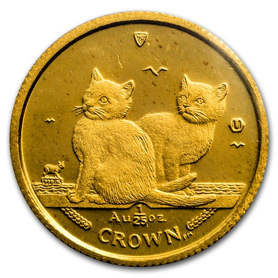 2003 Isle of Man 1/25 oz Gold Balinese Kittens Cat BU