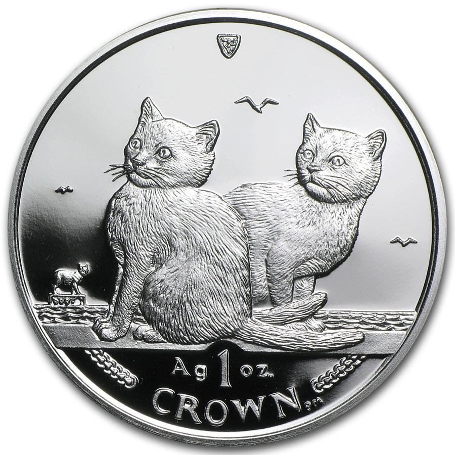 2003 Isle of Man 1 oz Silver Balinese Cats Proof