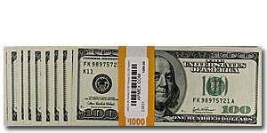 2003 (K-Dallas) $100 FRN CU (10 Notes)