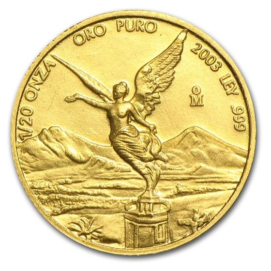 2003 Mexico 1/20 oz Gold Libertad BU