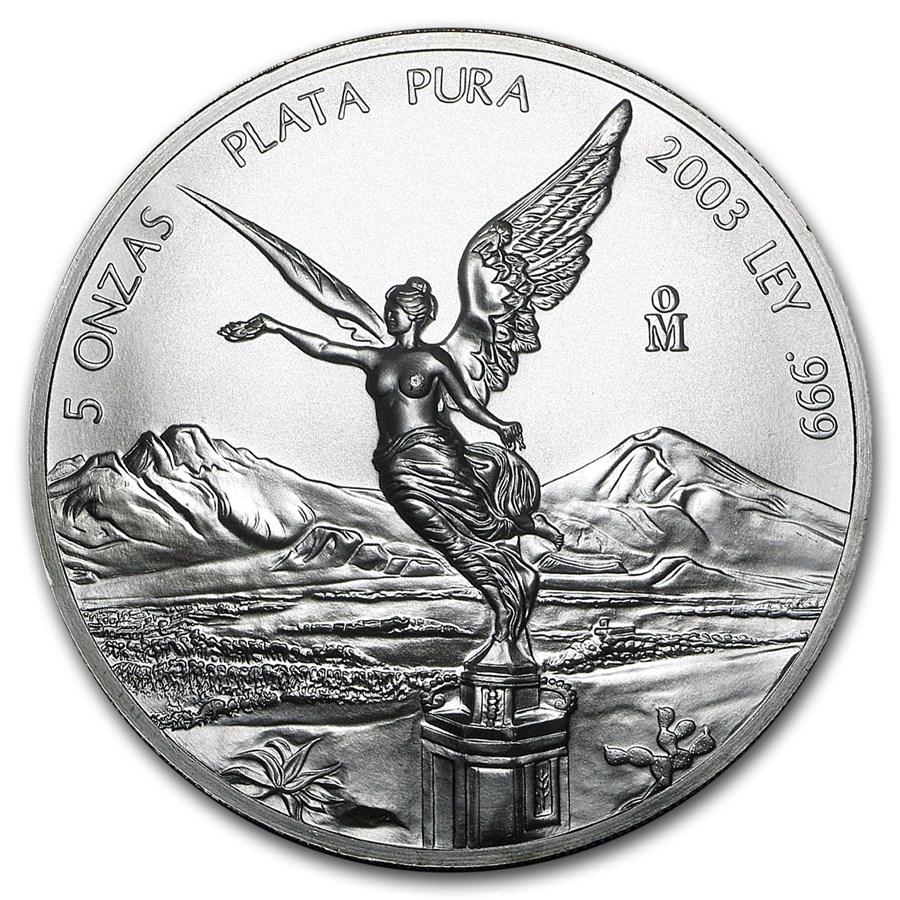 2003 Mexico 5 oz Silver Libertad BU